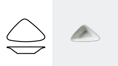 TRIANGULAR BOWL 140 mm / 5 1/2 in