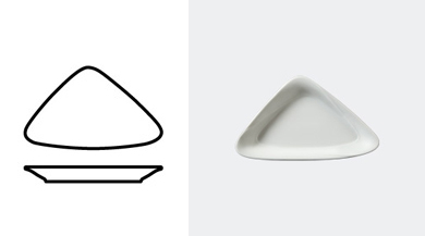 TRIANGULAR BOWL 190 mm / 7 1/2 in