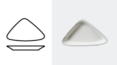 TRIANGULAR BOWL 230 mm / 9 in