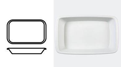 DISH 395 mm / 15 1/2 in