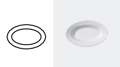PLATTER, OVAL 240 mm / 9 1/2 in