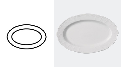 PLATTER, OVAL 360 mm / 14 1/8 in