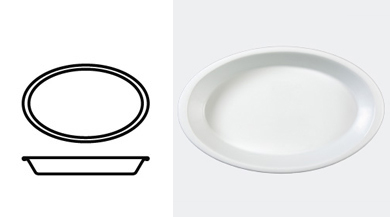 DISH, OVAL 395 mm / 15 1/2 in
